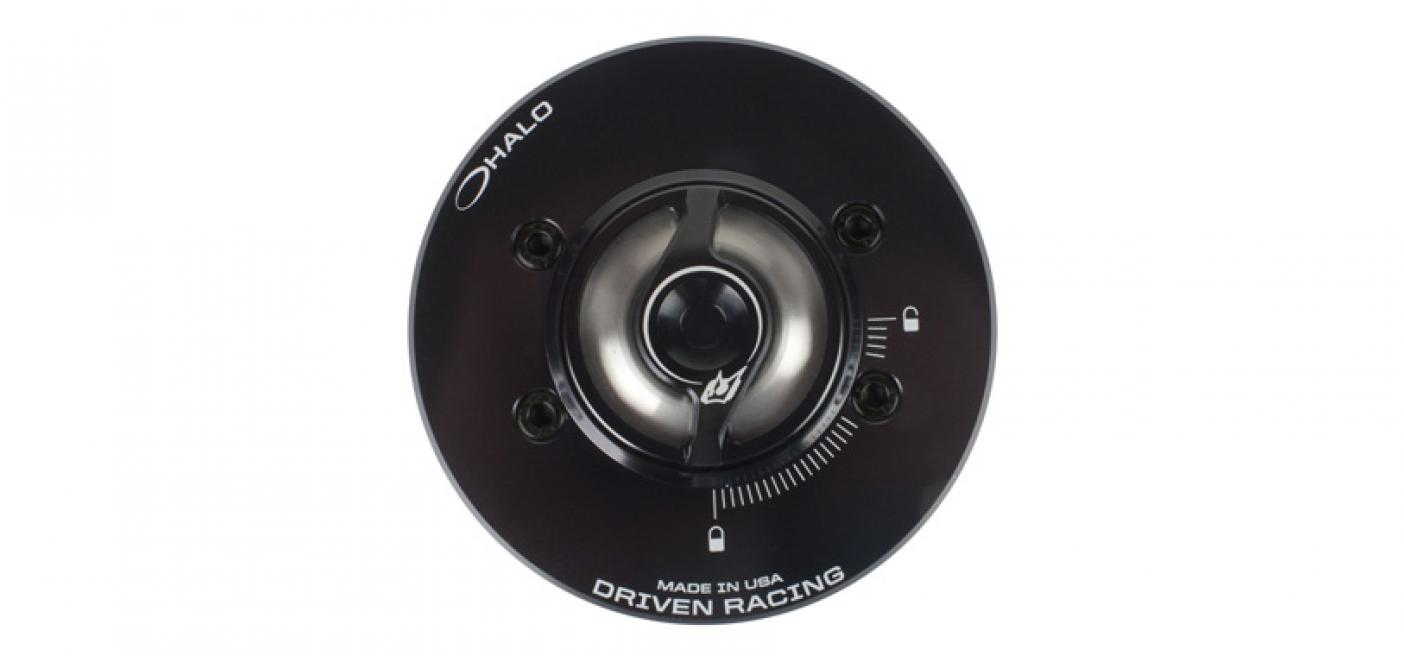Halo stainless steel signature series fuel cap driven racing